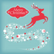 Christmas card with deer — Stock Vector #12457054