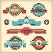 Set of retro labels — Stock Vector #12457056