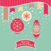 Christmas retro card — Stock Vector