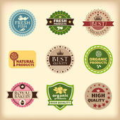 Set of different retro labels — Stock Vector