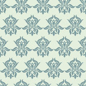 Floral seamless wallpaper — Vecteur