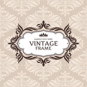 Abstract vintage frame — Vector de stock