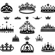 Set of crowns — Stock Vector #13242829