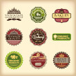 Set of different retro labels - Stock Vector