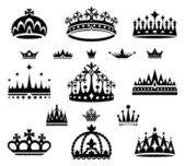 Set of crowns — Stok Vektör