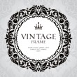 Abstract vintage frame — Stock Vector