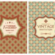 Vintage retro cards — Stock Vector