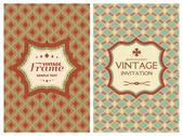 Vintage retro cards — Stock Vector