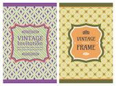 Vintage retro kaarten — Stockvector