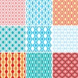 Seamless ornament patterns - Stock Vector