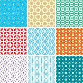 Seamless ornament patterns — Stock Vector