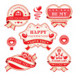 Valentine's day decorative labels — Stok Vektör #29108179