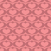Abstract pattern with hearts — Stock Vector