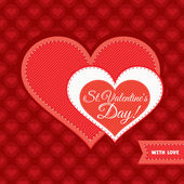 Carta di san valentino — Vettoriale Stock