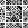 Stock Vector: Set of black and white patterns