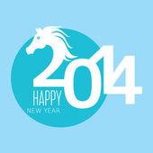 Jahr der karde pferd — Stockvektor