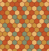 Seamless hexagon pattern — Stockvector