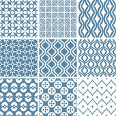 Abstract seamless patterns — Vettoriale Stock