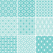 Abstract seamless patterns — Stok Vektör
