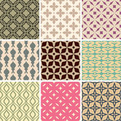 Abstract seamless patterns — Stock Vector
