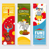Funfair banners — Stock Vector