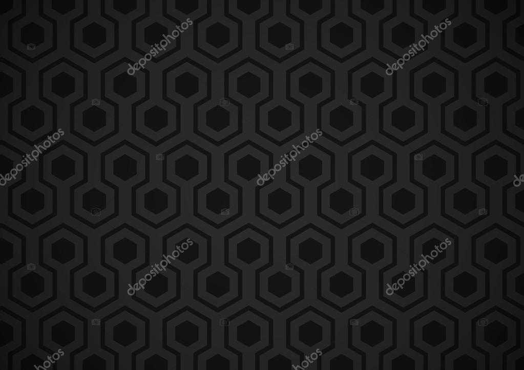Very dark wallpaper with hexagons shapes (balck and gray) — Stock Vector #12727373