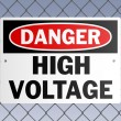Danger High Voltage — Stock Vector
