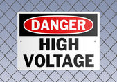 Danger High Voltage — Stockvector