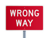 Wrong way — Stock Vector
