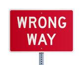 Wrong way — Stock Vector