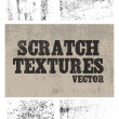 Stock Vector: Scratch textures
