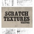 Scratch textures — Stock Vector