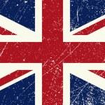 UK flag vintage — Stock Vector