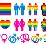 Homosexuell Piktogramme — Stockvektor