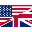 flag usa uk — Stock Vector