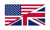 Flag USA UK — Stock Vector