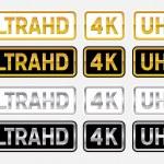 UltraHD logos — Stock Vector