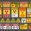 Radiation signs - Stock Vector