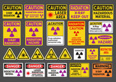 Radiation signs — Stock Vector