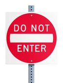 Do not enter — Stock Vector