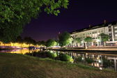 The Erdre by night - Nantes, France — Stock Photo