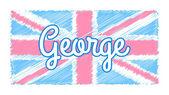 Baby UK flag — Stock Vector