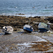 Small boats at low tide - Ile d'Yeu (France) — Stock Photo
