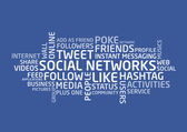 Social Networks words — Stock Vector