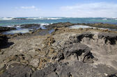 Rock formations (El cotillo - Fuerteventura - Spain) — Stock Photo