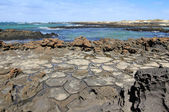 Rock formations (El cotillo - Fuerteventura - Spain) — Stock Photo