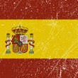 Spanish flag vintage — Vettoriale Stock