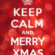 Keep Calm and Merry Xmas — Stock Photo