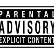 Parental Advisory label — Stock Vector #38665057