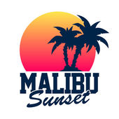 Malibu Sunset — Stock Vector